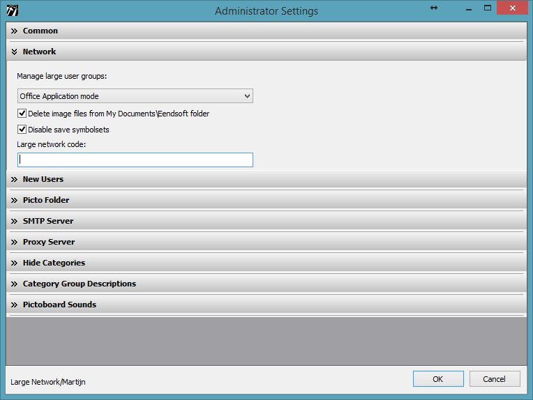 Large Network Administrator Settings